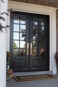 Black, Double, Front, Doors, For, Fall