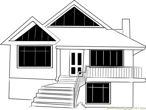himkund cottages coloring page  cottage coloring pages coloringpagescom