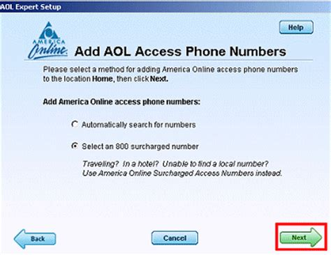 surcharge phone number manually add access phone numbers aol help