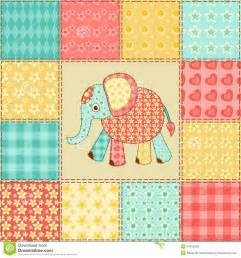 patchwork design elephant patchwork pattern royalty free stock images image 34616909