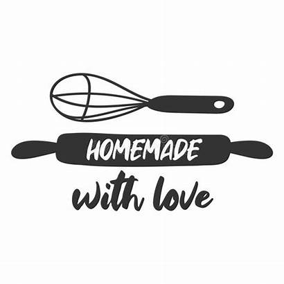 Homemade Symbols Cooking Bakery Labels Badges Retro