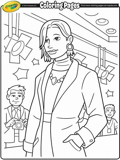 Coloring Runway Truth Sojourner Crayola Pages Joan