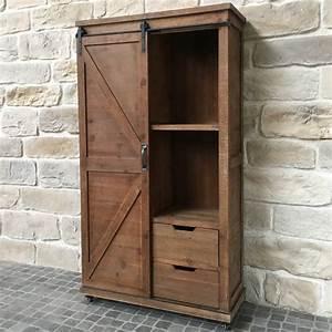 Armoire 90 Cm Largeur : meuble armoire bahut tiroirs bois fer style industriel campagne 166 cm ebay ~ Teatrodelosmanantiales.com Idées de Décoration