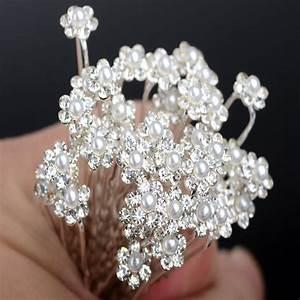 Wholesale 40Pcs Wedding Bridal Pearl Flower Crystal Hair