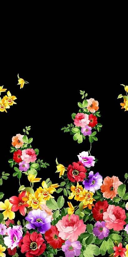 Flower Digital Painting Backgrounds Floral Textile Pattern