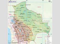 Bolivia Map, Map of Bolivia