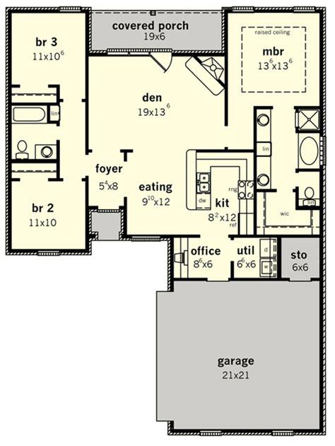 starter  retirement home plan dc architectural designs house plans