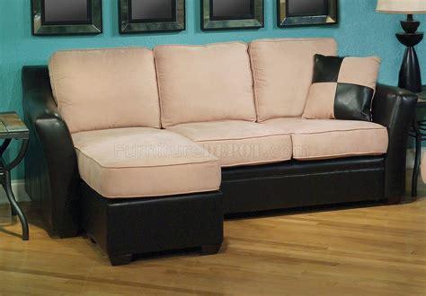 cream microfiber sectional sofa two tone cream microfiber pu modern reversible sofa w