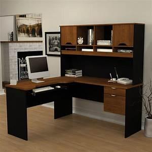 Bestar Innova Shape Computer Desk Tuscany Brown Black Desk Hayneedle Modern L Shaped Desk Photos