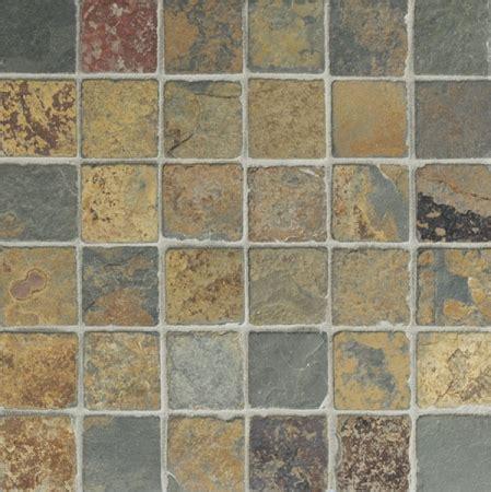 tumbled slate floor butterscotch slate mosaic 2x2 tumbled