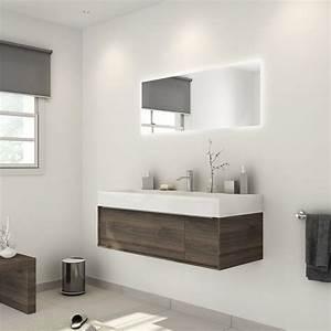 Meuble De Salle : meuble de salle de bains plus de 120 marron neo frame leroy merlin ~ Nature-et-papiers.com Idées de Décoration