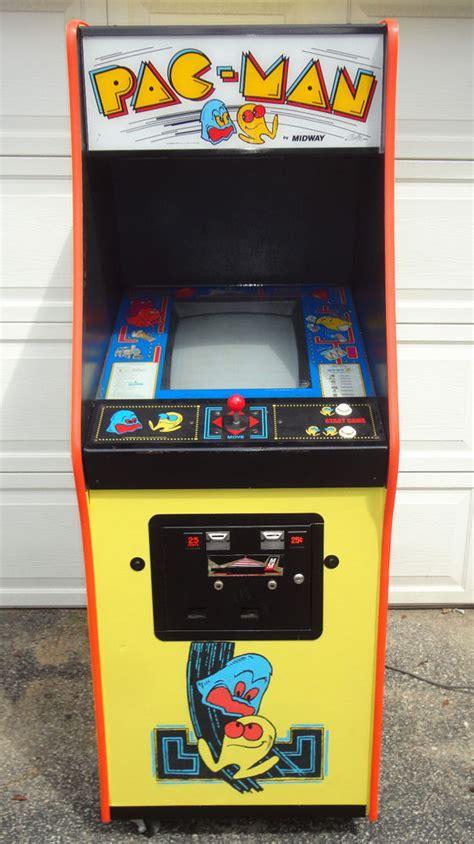 pac man arcade cabinet midway 1980 pac man w jr full size original arcade