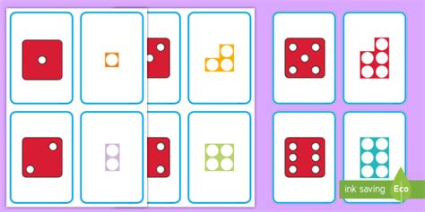 * New * Dots On Dice And Number Shapes Cards  Number Shapes