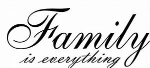 Family is Everything Cursive vinyl wall decal quote