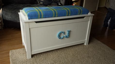 ana white toy box  upholstered seat diy projects