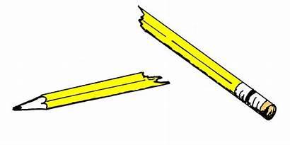 Pencil Clipart Clip Break Broken Pencils Cliparts