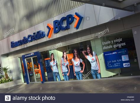 Banco Stock Banco De Credito Bcp Branch Office On Av 28 De Julio In