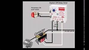 Timer Off Delay Dayton Avec Contacteur Et Moteur 24 Et 240v Ac