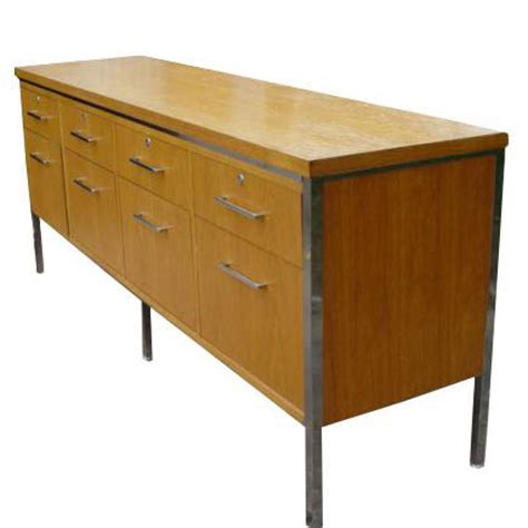 credenza file cabinet 6ft mid century modern oak alma credenza file cabinet ebay