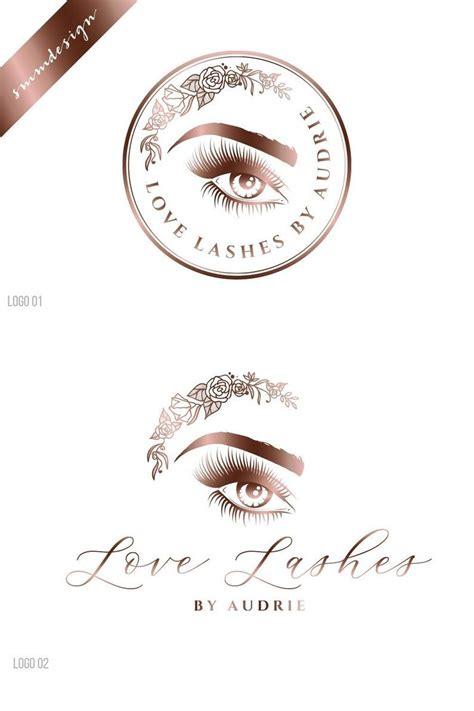 Lash logo design makeup logo design Floral Logo design ...
