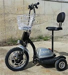 3 Rad Elektroroller : 350w silber zappy golfcart fun elektroscooter dreirad ~ Kayakingforconservation.com Haus und Dekorationen