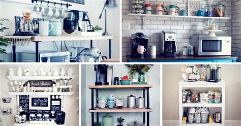 small bathroom wall decor ideas 30 charming diy coffee station ideas for all coffee