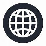 Wide Icono Globo Icon Dunia Ikon Jaringan