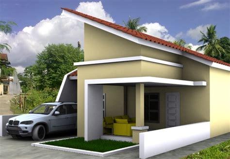 gambar design rumah atap miring