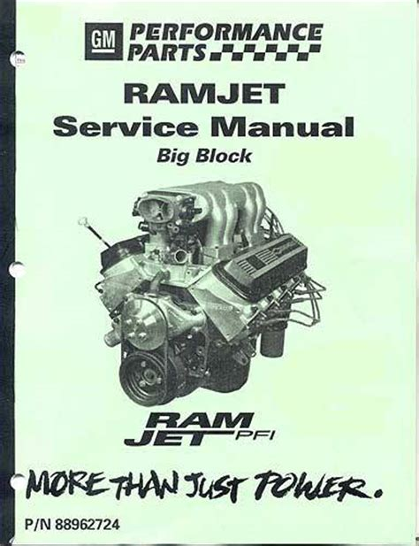 manualservice ramjet  engine gm performance motor