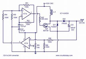 Simple 12v To 24v Dc Dc Converter Using Lm324 And Transistor