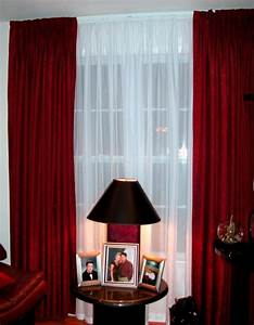 Sheer curtain ideas for living room ultimate home ideas for Red and cream curtains for living room