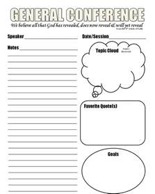 General Conference Notes Template