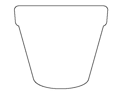 flower pot template printable flower pot template