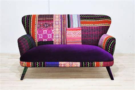 Poltrona Patchwork Ebay : Striped Wing Patchwork Sofa