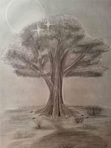 Bild  Bleistiftzeichnung  Baum  Landschaft  Zeichnungen Von Remo Dora Bei Kunstnet