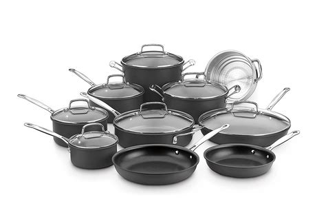cookware nonstick cuisinart piece sets non stick anodized hard chef classic 17n