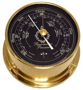 Downeaster Barometer Nautical Instrument, Blue Face