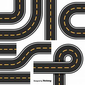 Road Map Design Element Set. Top View Position. Highway ...
