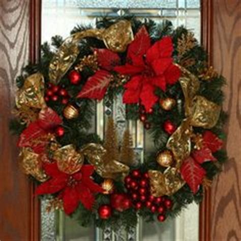 costco wholesale christmas decorations poinsettia wreath by tulippetalproduction i and green at beautiful