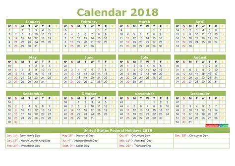 full year calendar week numbers printable printable