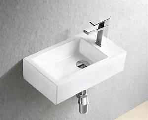 Waschbecken Gäste Wc : g ste wc waschbecken f r wandmontage keramik ~ Watch28wear.com Haus und Dekorationen