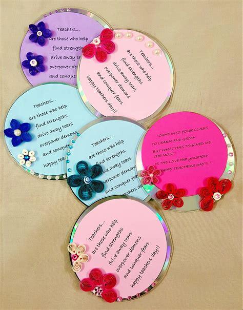 teachers day cards quilling  cd handmade teachers