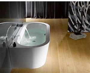 Baignoire Ilot Contre Mur : baignoires en acier maill en pose libre contre le mur ~ Nature-et-papiers.com Idées de Décoration