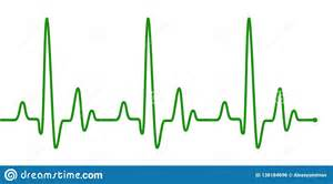 Green Heart Beat Pulse Line On White Stock Illustration