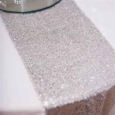 silver glitter table runner silver sequin table runner the 100 images 1 yard