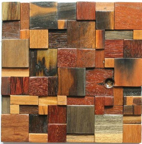 Natural Wood Mosaic Tile Rustic Wood Wall Tiles Backsplash