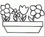 Vase Vases Coloring Bulbs Pages Tulip Flower Growing Bulb Roses Fresh sketch template