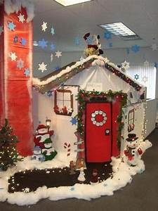Top office christmas decorating ideas christmas celebration for Christmas office decorating