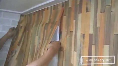 hang  adhesive wallpaper  walls