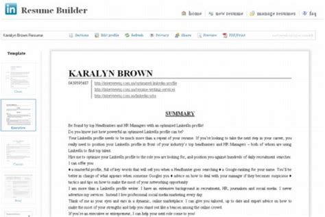 Linkedin Resume Format by Linkedin Has A New Resume Feature Read About It Here